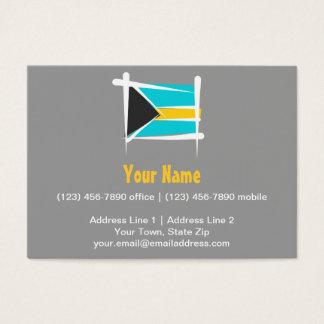 Bahamas Brush Flag Business Card