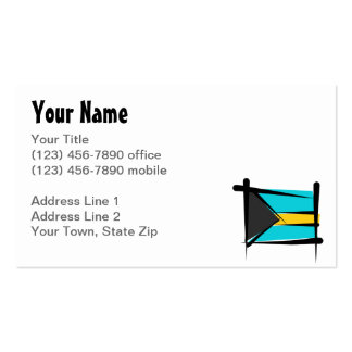 Bahamas Brush Flag Double-Sided Standard Business Cards (Pack Of 100)