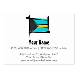 Bahamas Brush Flag Large Business Cards (Pack Of 100)