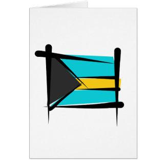 Bahamas Brush Flag Greeting Card