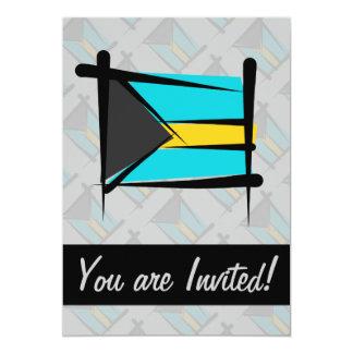 Bahamas Brush Flag 5x7 Paper Invitation Card