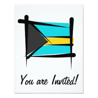 Bahamas Brush Flag 4.25x5.5 Paper Invitation Card