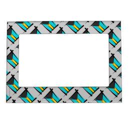 Bahamas Brush Flag Magnetic Photo Frame
