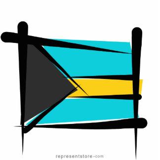 Bahamas Brush Flag Statuette