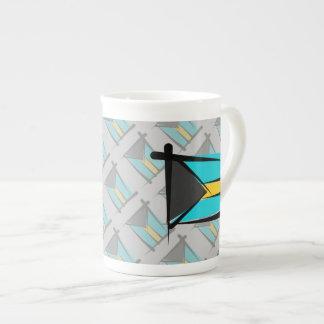 Bahamas Brush Flag Tea Cup