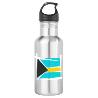 Bahamas Brush Flag Water Bottle