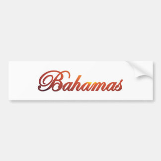 Bahamas Bumper Sticker