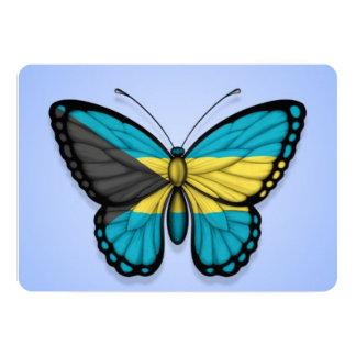 Bahamas Butterfly Flag on Blue Card