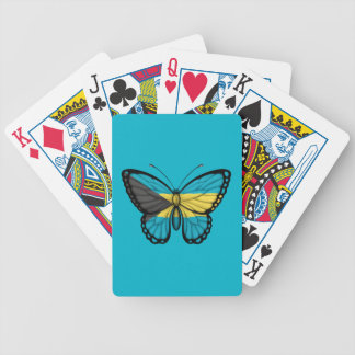 Bahamas Butterfly Flag Bicycle Playing Cards