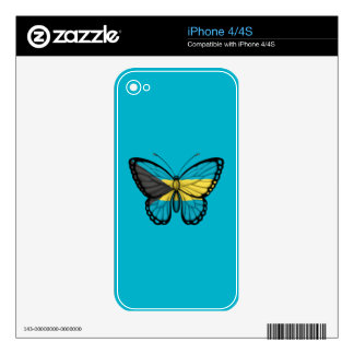 Bahamas Butterfly Flag Skins For iPhone 4