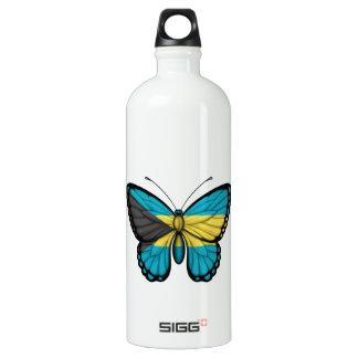 Bahamas Butterfly Flag Water Bottle