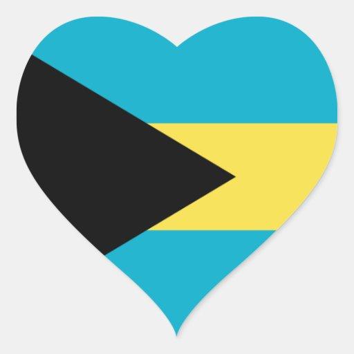 Bahamas Calcomanía Corazón