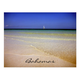 bahamas clear waters post card