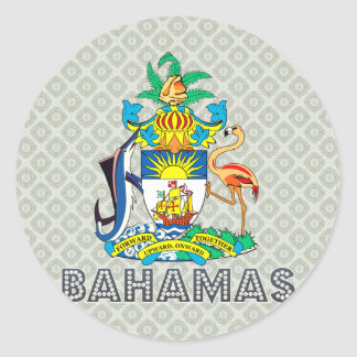Bahamas Coat of Arms Classic Round Sticker