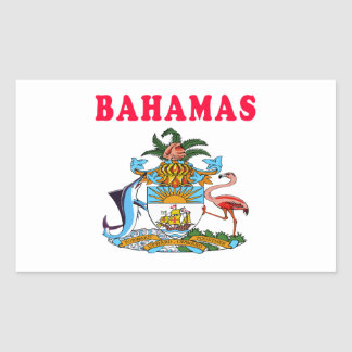 Bahamas Coat Of Arms Designs Rectangle Stickers