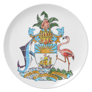 Bahamas Coat Of Arms Dinner Plate