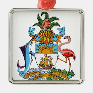 Bahamas Coat of Arms Metal Ornament