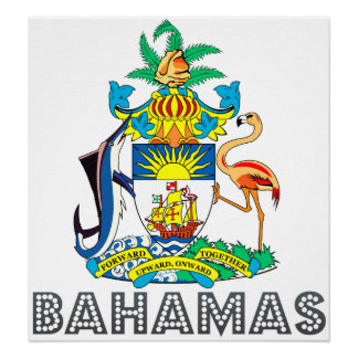 Bahamas Coat of Arms Poster
