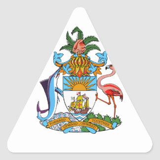 Bahamas Coat of Arms Triangle Stickers