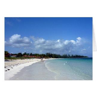 Bahamas costales tarjeta de felicitación