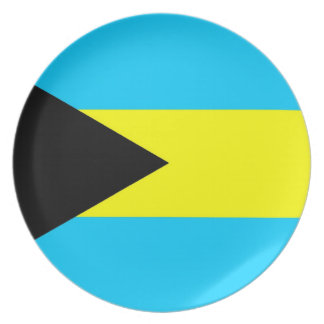 bahamas country flag plate