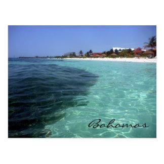 Bahamas cristalinas tarjeta postal