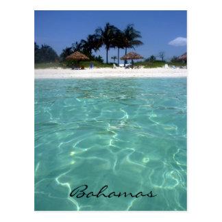 Bahamas cristalinas tarjetas postales