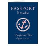 Bahamas Cruise Passport Wedding Invitation