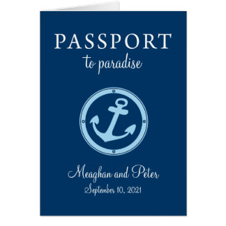 Bahamas Cruise Passport Wedding Invitation
