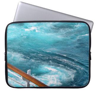 Bahamas Cruise - Turquoise Wake Laptop Sleeve