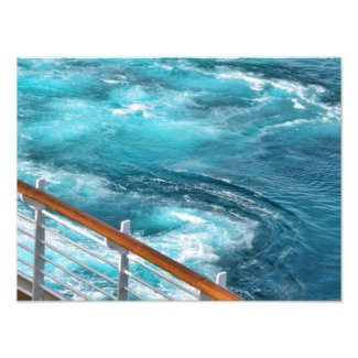 Bahamas Cruise - Turquoise Wake Photo Art