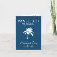 Bahamas Cruise Wedding Passport Invitation