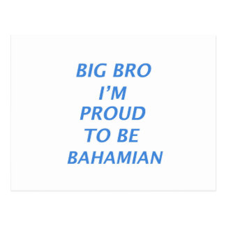 Bahamas design postcard
