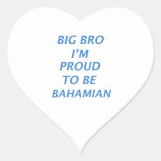 Bahamas design heart sticker