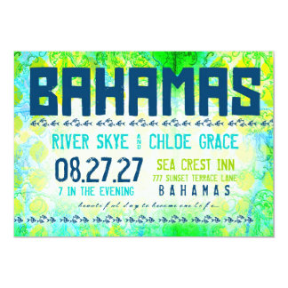BAHAMAS Destination Invite Basic Paper