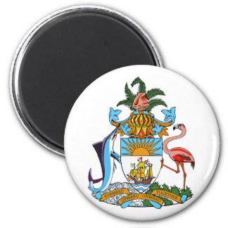 bahamas emblem 2 inch round magnet