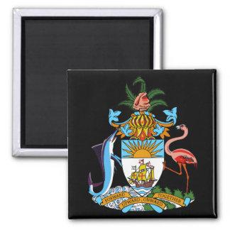 bahamas emblem 2 inch square magnet