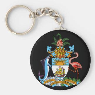 bahamas emblem basic round button keychain