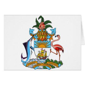 bahamas emblem card