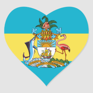 bahamas emblem heart sticker