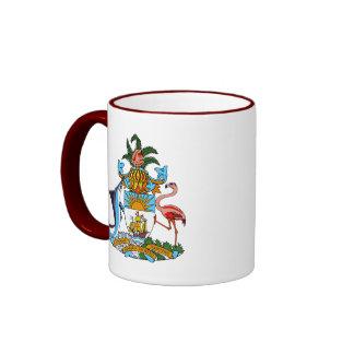 bahamas emblem ringer mug