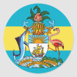 bahamas emblem round sticker