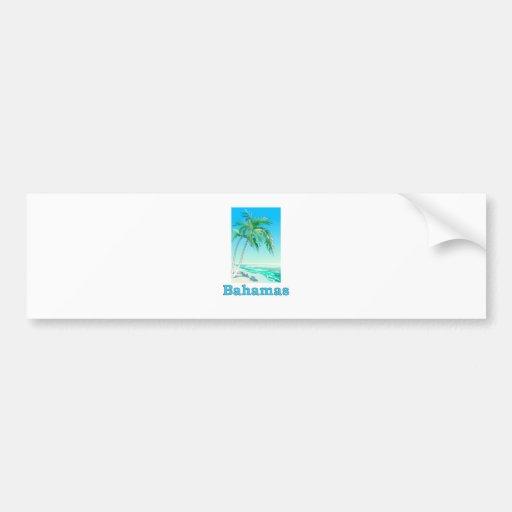 Bahamas Etiqueta De Parachoque