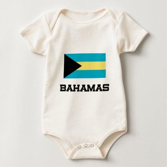 Bahamas Flag Baby Bodysuit