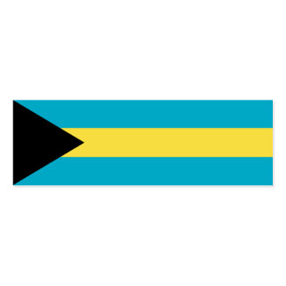Bahamas Flag Double-Sided Mini Business Cards (Pack Of 20)