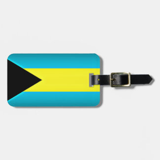 Bahamas Flag Dark Edge Bag Tag