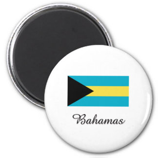 Bahamas Flag Design Magnet