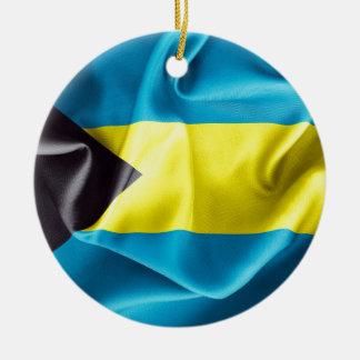Bahamas Flag Double-Sided Round Christmas Ornament
