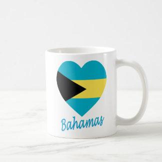 Bahamas Flag Heart Coffee Mug