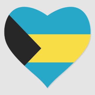 Bahamas Flag Heart Sticker